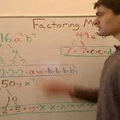 Factoring Monomials