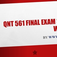QNT 561 Final Exam 30 Questions with Answers