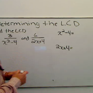 LCD in Algebraic Fractions