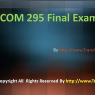 UOP COM 295 Final Exam Latest Assignment