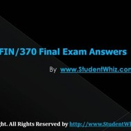UOP FIN 370 Final Exam Answers