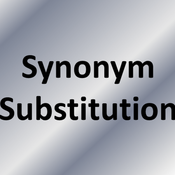 Synonym Substitution