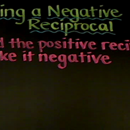 Finding a Negative Reciprocal