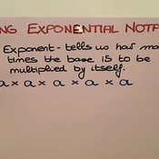 Expanding Exponential Notation