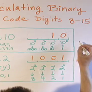 Calculating Binary Code 8-15