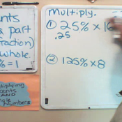 Multiplying Percentages by Whole Numbers
