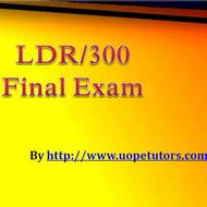 LDR 300 Final Exam 30 Question With Answers