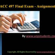 ACC 497 Final Exams 100 Questions with Answers