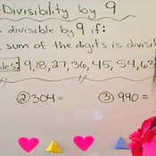 Determining Divisibility by 9