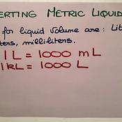 Converting Metric Liquid Vloume