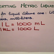 Converting Metric Liquid Vloume