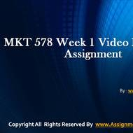 MKT 578 Week 1 Video Reflection Assignment Question Answers