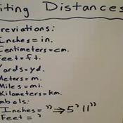 Distance Notation