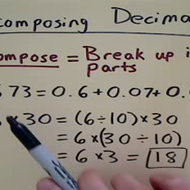 Decomposing Decimals