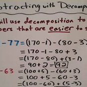 Subtracting with Decomposition