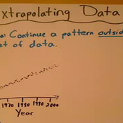 Extrapolating Data