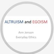 Altruism and Egoism
