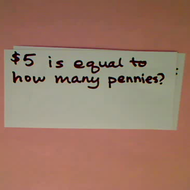 Relating Pennies and Dollars