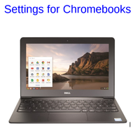 Settings for Chromebook