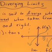Recognizing a Diverging Limit