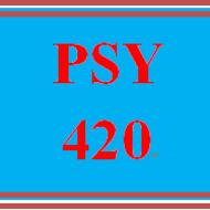 PSY 420 PSY420