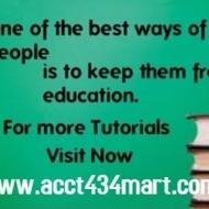 ACCT 434 Slingshot Academy  / acct434mart.com