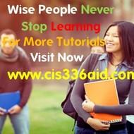 CIS 336  Slingshot Academy  / cis336aid.com
