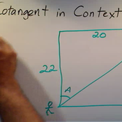 Determining Cotangent in Context