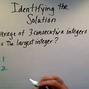 Identifying the Solution
