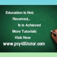 PSY 405 Slingshot Academy / psy405tutor.com