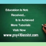 PSY 410 Course Experience Tradition   / psy410assist.com