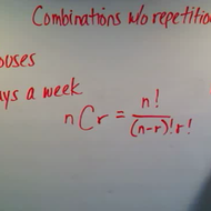 Calculating Combinations Without Repetition
