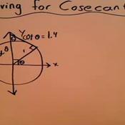 Solving a Pythagorean Identity for Cosecant