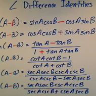Angle Difference Identities