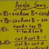 Angle Sum Identities