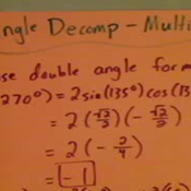 Decomposing Angles Using Multiplication