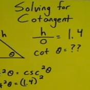 Solving a Pythagorean Identity for Cotangent