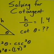 Solving a Pythagorean Identity for Cotangent