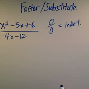Factor and Substitute Method