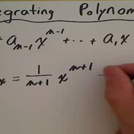 Integral of a Polynomial