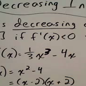 Decreasing and Increasing Intervals