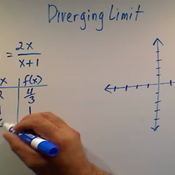 Recognizing a Diverging Limit