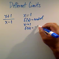 Demonstrating Different Limits