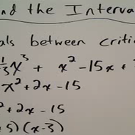 Finding the Intervals of a Function
