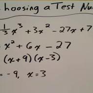 Choosing a Test Number