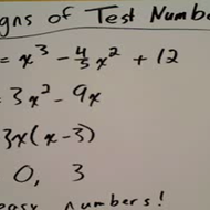 Determining the Sign of a Test Number