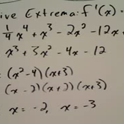 Finding Relative Extrema