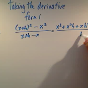 Taking the Derivative Form One