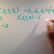 Multiplying 3-Vectors by a Scalar