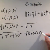 Applying the Triangle Inequality
